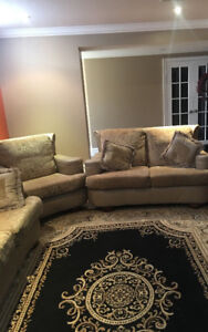 3-Piece Couch Set and Rug For Sale!!