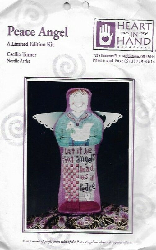 Peace Angel 3D Shelf Sitter Counted Cross Stitch Ltd Edition Kit Heart In Hand - $23.53