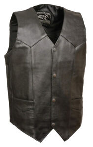 BRAND NEW! MEN'S MOTORCYCLE BIKER LEATHER VEST - VARIOUS SIZES