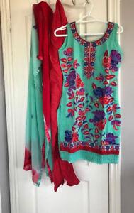 NEW COTTON Salwar Kameez Pajami Punjabi Suit Indian Size X-SMALL