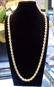 THICK 10K Classic Rope chain 30 Inches ITALY MADE