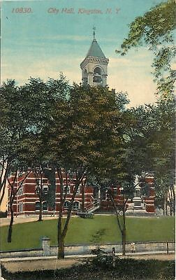 Kingston New York City Hall Weather Vane Tops Belfry Monument Cannon 1908 Pc