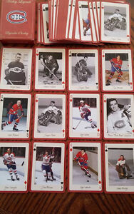 Canadiens Montreal cartes a jouer legendes hall of Fame sceller