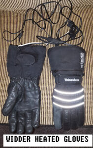 WIDDER 12 VOLT HEATED GUANTLET GLOVES LARGE WITH HARNESS AND SWI
