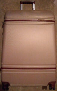 GOLDEN & BROWN HARD SHELL SUITCASE