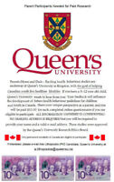 PARENTS Queen's University will $$ pay $$ you for your opinion!