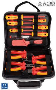 Projahn VDE Elektro Werkzeugmappe 12 tlg Werkzeug 8687 Werkzeugtasche Elektriker