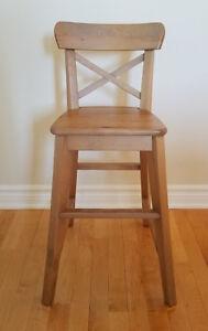 Chaise bois junior enfant Ingolf L41 cm x P45cm x H77cm - IKEA
