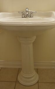 PEDESTAL SINK WITH TAPS