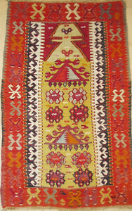 "ANTIQUE ANATOLIAN (TURKISH) KELIM/TEXTILE, (4'7"" x 2'10"")"