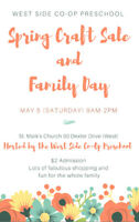 Spring Sale and Family Day Vendors Wanted