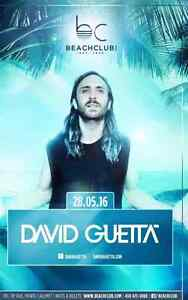David Guetta Beachclub tickets billets