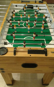 FOOSBALL TABLE ONE YEAR OLD