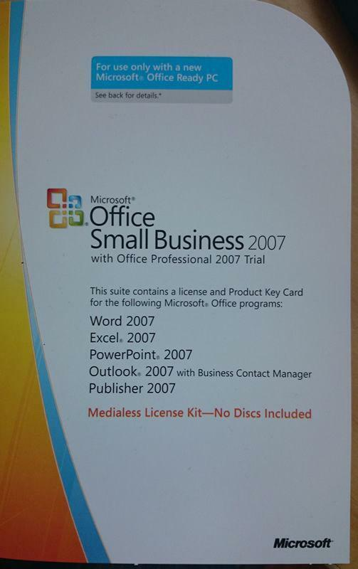 office 2007 small business key