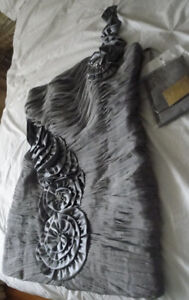 FORMAL COCKTAIL DRESS SILVER/GRAY
