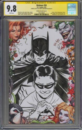 Batman #50 CGC 9.8 Original Batman & Robin Sketch by Brent Schoonover