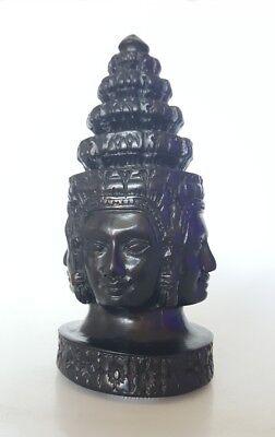 Speckstein Buddha Büste Figur 16cm