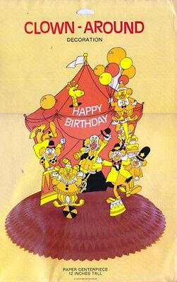 CLOWN AROUND Birthday Centerpiece American Greetings 12