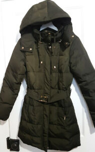 Womens down&feather parka winter jacket coat