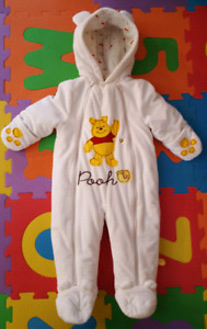 Winnie the pooh bunting suit 12 months EUC