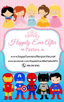 CHARACTERS~FACE PAINTERS~COTTON CANDY~Happily Ever After Parties