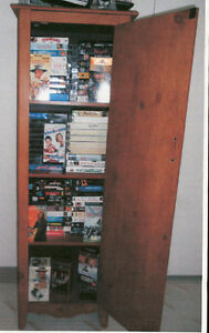 Shelving chest with 250 VCR movies included!
