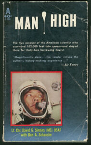 "Collectible Paperback Book ""Man High"" 1960"