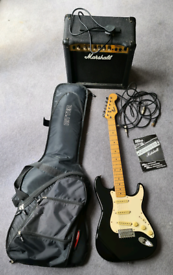 Fender Squire Stratocaster and Amp