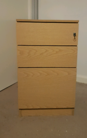 office pedestal filing cabinet with 3 drawers