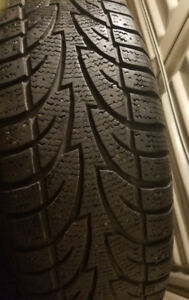 Selling 4 225/70/16 directional snow tires and rims