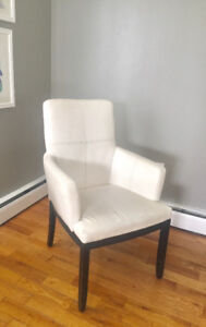 White Wicker Emporium Leather Accent Chair