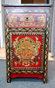 Vintage Gibbard mini Desk and Oriental Cabinet