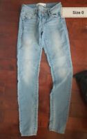 Ladies garage jean size 0