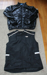 Running Room vest Adidas rain jacket jogging XL extra large