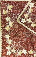 (2pcs) Brand New Silk&Goldwork Paisley Embroidered Tablecloths