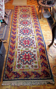 ORIENTAL REAL WOOL HAND KNOTTED RUNNER
