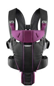 BABY BJORN MIRACLE BABY CARRIER IN Black and purple