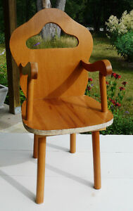 Child's Hand Crafted Wood Chair
