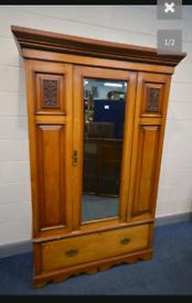 Satin wood vintage wardrobe
