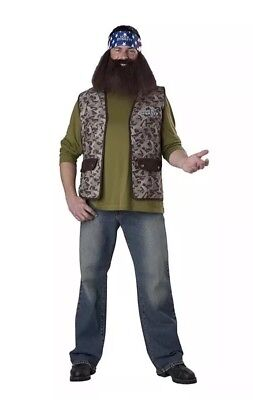 NEW Duck Dynasty Willie Adult size O/S Costume A&E Reality TV Show InCharacter - Reality Tv Costumes Halloween