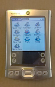 Palm Tungsten E PDA with charger