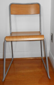 SOLID WOOD CHAIR WITH METAL FRAME