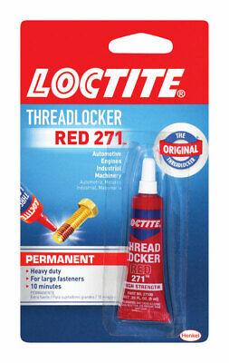 Loctite Nut & Bolt Threadlocker Red 271 Permanent Heavy Duty Adhesive, 6 ml