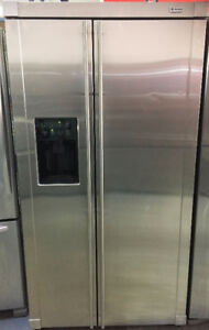 "Stainless Steel 36""GE Monogram Fridge Side by Side Fridge"