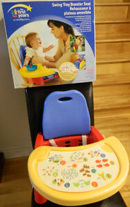 Swing Tray Booster seat / Rehausseur a plateau amovible