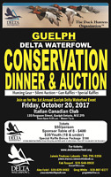 Guelph/Wellington Delta Waterfowl Conservation Dinner