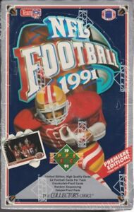 1991 UPPER DECK .... FOOTBALL ... LOW or HIGH # box ... 36 packs