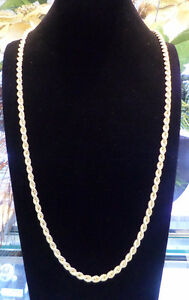Men's 10K Italian gold Rope chain 30 Inches 21 grams