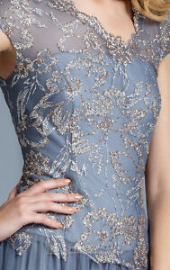 Silver/Grey Terani Evening Gown / Prom Dress London Ontario image 7