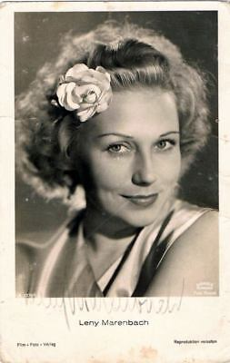 """Leny Marenbach -  """"signed"""" film pictures Card"""
